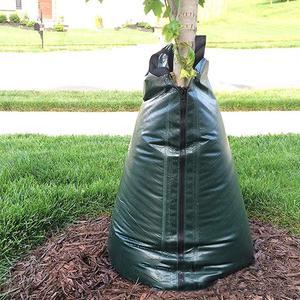 Мешок для полива деревьев, 20 галлонов, сельскохозяйственный мешок для орошения, многоразовый полиэтиленовый пакет с молнией, садовые расте...