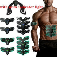 EMS Electric Abdominal Muscle Stimulator Hip Trainer Slimming Massager Vibrator Sticker Battery fitness Exercise Machine
