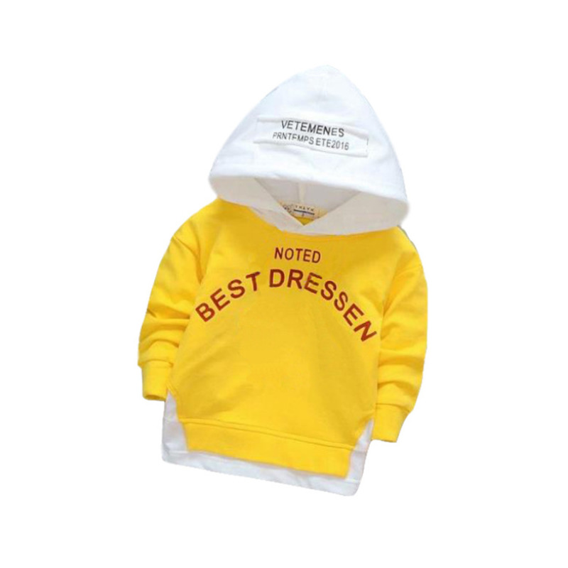 Toddler Baby Boys Girls Hooded Sweatshirts Infant Letter Blouse Hoodies Tops