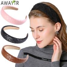 Nuevas de cuero diademas para las mujeres PU trenzada cintas elásticas para el cabello de bisel de niñas moda niñas pelo bandas accesorios para el pelo tocado