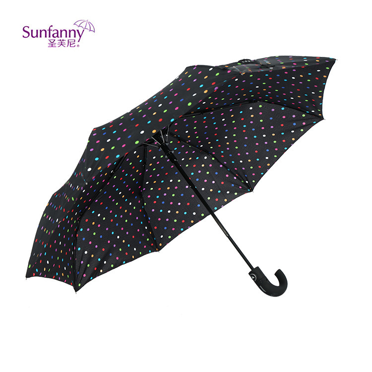 Modern Semi-Automatic All-Weather Umbrella Outdoor Practical Simple Folding Tri-fold Umbrella Manufacturers Supply