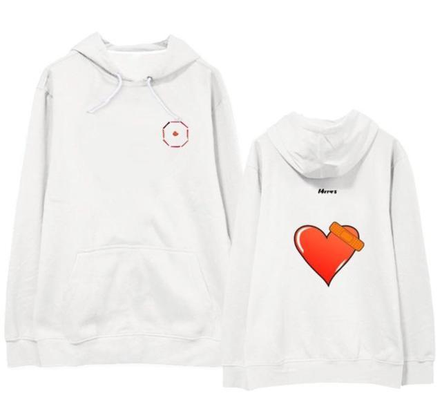 Got7 jackson album miroirs balle au coeur même impression sweats à capuche unisexe kpop polaire/pull mince sweat-shirt ample