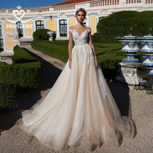 Sweetheart Kralen Prinses Trouwjurk Off Shoulder Applicaties Lace A lijn Swanskirt I182 Bruidsjurk Illusion Vestido De Noiva
