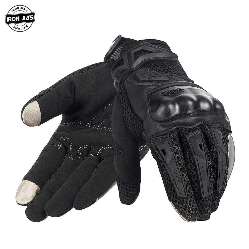 Летние Перчатки для мотоциклистов IRON JIA'S, Мужские дышащие перчатки с сенсорным экраном для езды на мотоцикле, мотокросса