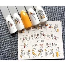 30 дизайнерские наклейки для ногтей с бантом, наклейки для ногтей, Одуванчик, цветок, наклейки для ногтей, художественный декор, наклейки для ногтей, переводные наклейки