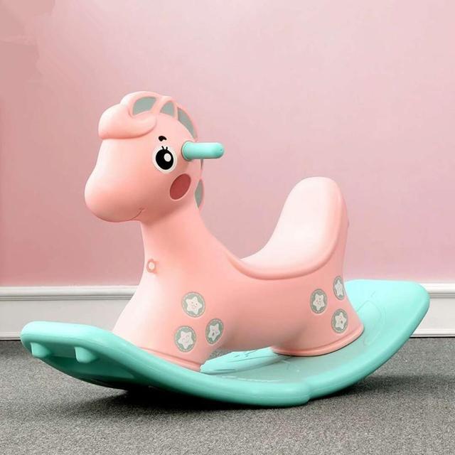 Baby Child Animal Rocking Horse Multifunction Rocking Chair Trojan Toy Baby Game Baby Walker Indoor Girl Gift 4