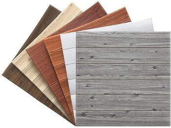 Panel de pared 3D imitación madera grano ladrillo papel tapiz pelar y pegar sala de estar decoración de pared de fondo de dormitorio 70*70cm