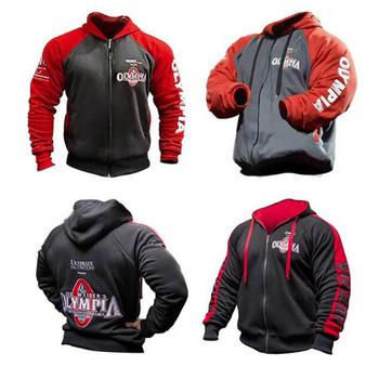 Autumn And Winter Classic Olympia Men's Casual Sports Hoodie Gyms Fitness Bodybuilding Men's Fashion Jacket Spring Cotton Hoodie