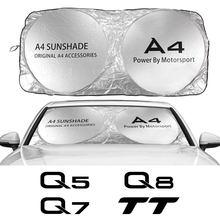 Auto Windschutzscheibe Sonnenschutz Abdeckung Für Audi A3 8P 8V A4 B8 B6 A6 C6 C5 A5 Q2 q3 Q5 Q7 Q8 TTS TT Auto Zubehör Anti UV Reflektor