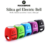 ROCKBROS Electric Cycling Bells 90 dB Horn Rainproof MTB Bicycle Handlebar Bell Silica gel Shell Ring Bell Bicycle Accessories