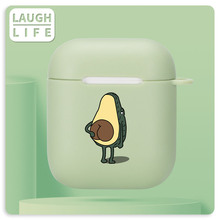 Case For AirPods 2 3 Soft Cartoon Avocado Earphone Case For AirPods Pro Case Charging Box Cover For Airpods 3 Case Air Pods Pro tanie tanio CN(Origin) Earphone Cases 6*5 5*2 5 For Apple AirPods Case Silicone Fitted Case Waterproof Dirt-resistant Anti-knock Clear Silicone Airpods Case