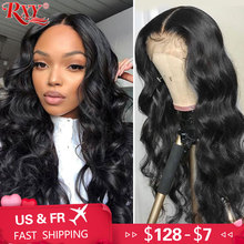 RXY Lace Front Human Hair Wigs 360 Lace Frontal Wig Body Wave 13×6 Lace Front Wig Brazilian Remy Human Hair Wigs For Women Black