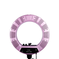 18 inch Outer LED Ring Light Kit Europe plug 480 pieces LED Ring Light 5500K with Hot Shoe phone clip Purple