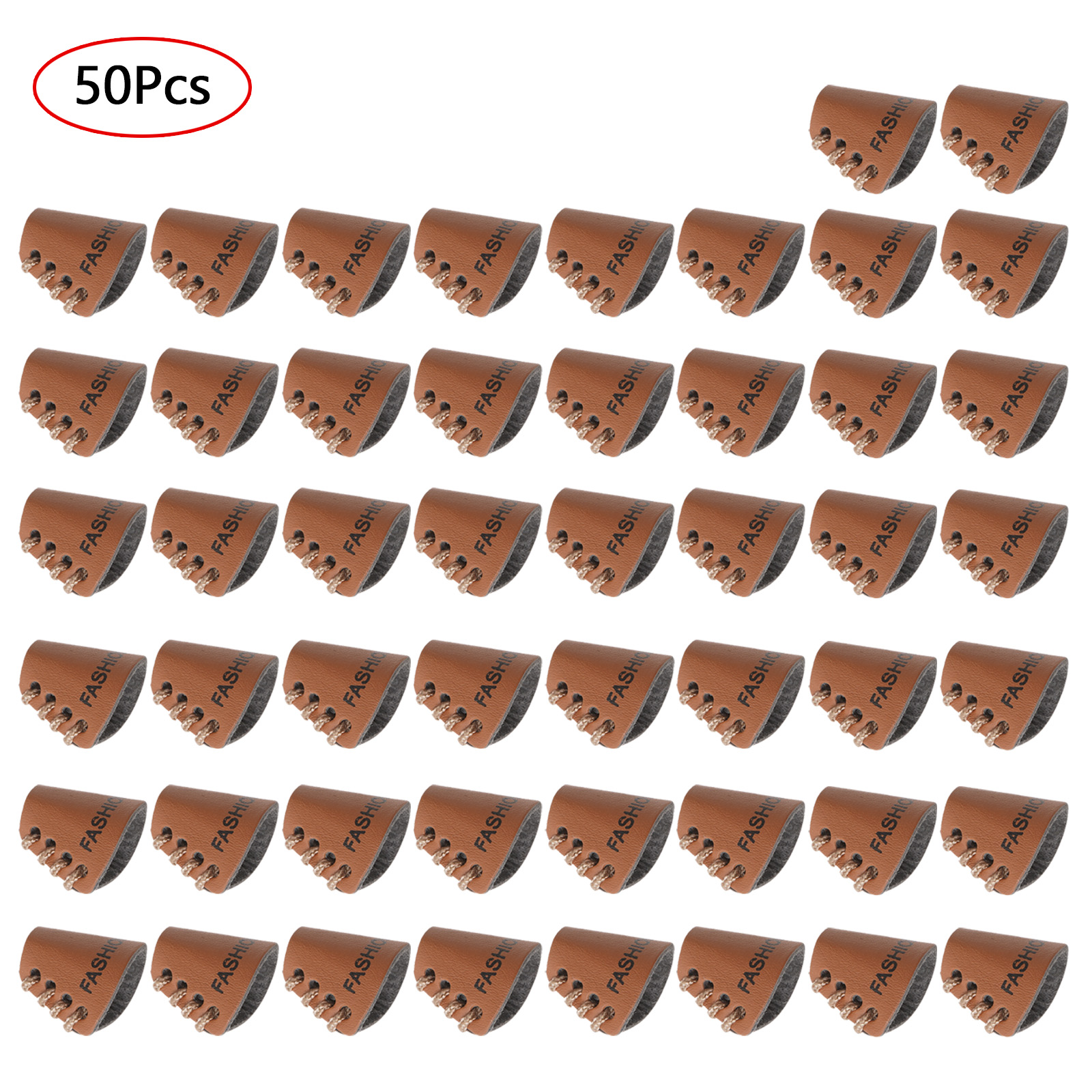 50Pc Brass Metal Hoops Washers Sew On Apparel Cap Badges Leather Clothing Tags Pants Trousers Patches DIY Home Textiles Supplies