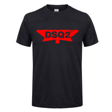 DSQICOND2 Summer DSQ2 Letter Casual T-shirts Men Printed Tops Tee Cotton Short Sleeve Tshirt Harajuku T shirt Streetwear T-shirt(China)