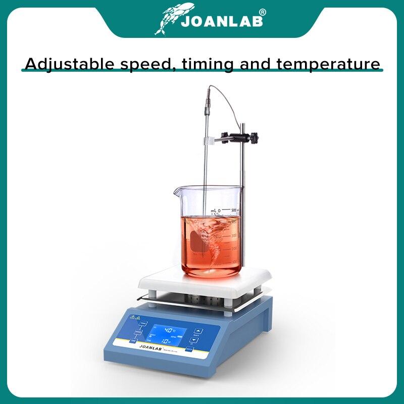 JOANLAB Heating Magnetic Stirrer Hot Plate Lab Stirrer Digital Display Magnetic Mixer Lab Equipment 1L 3L 5L 220v With Stir Bar 5