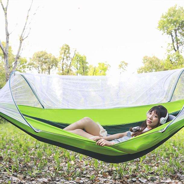 Hammock Outdoor Mosquito Net Anti-side Roll Wild Swing Shaker Adult Tree Bed Sleepnet Double