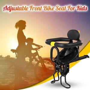 Asiento delantero para bebé, silla para niños, asiento de liberación rápida, asiento para niños, cojín suave, asiento para bebé con reposabrazos, Pedal de ciclismo JG3