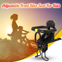 Bicycle Front Baby Seat Child Chair Mtb Quick Release Saddle Kids Seat Support Soft Cushion Baby With Armrest Pedal Cycling JG3