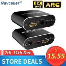 4K 60Hz HDMI Audio Extractor 5.1 ARC HDMI Audio Extractor Splitter HDMI To Audio Extractor Optical TOSLINK SPDIF + 3.5mm Stereo