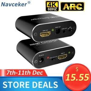Image 1 - 4K 60Hz HDMI Audio Extractor 5.1 ARC HDMI Audio Extractor Splitter HDMI To Audio Extractor Optical TOSLINK SPDIF + 3.5mm Stereo