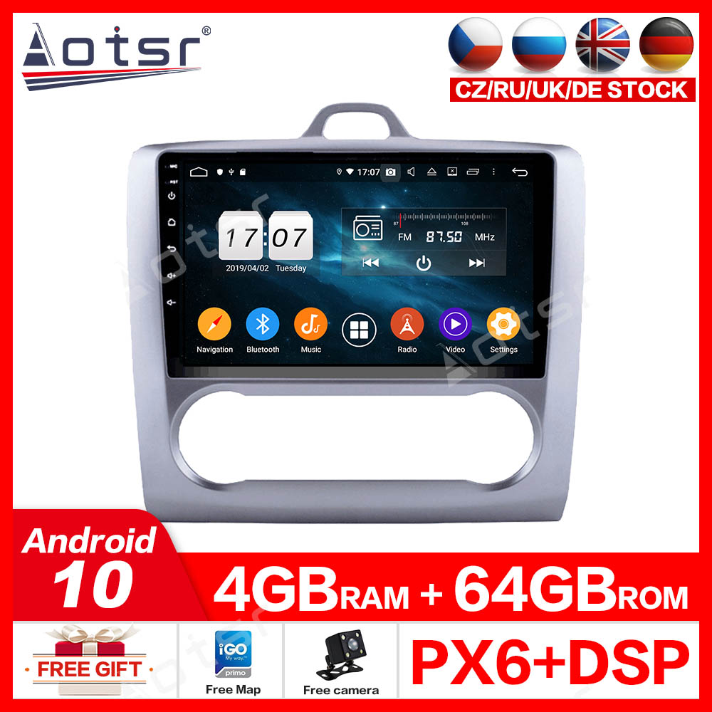 For Ford Focus 2004-2011 Auto Screen Android10.0 Multimedia Radio DVD Player Car GPS Navigation Auto Stereo Recorder Carplay IPS image