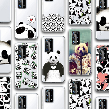 Funda bonita y divertida de Panda para Huawei P30, P40, P20, Mate 30, 20, Honor 10, 20, 10i, 20i, Nova 5, T, 5, 5i, Pro Lite, P inteligente, Plus de silicona 2019 y TPU