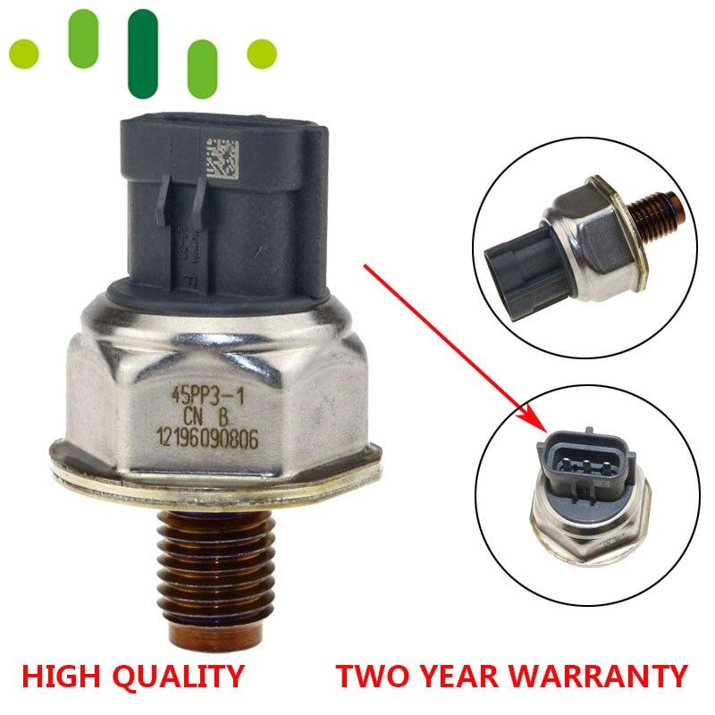 Sensor comum original 45pp3-1 1465a034a 8c1q9d280aa da pressão de combustível do trilho para nissan navara d40 pathfinder 2.5 diesel