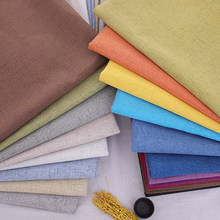 Solide De polyester de Lin tissu canapé rideau tissu tissus de couture BRICOLAGE tissu par mètre
