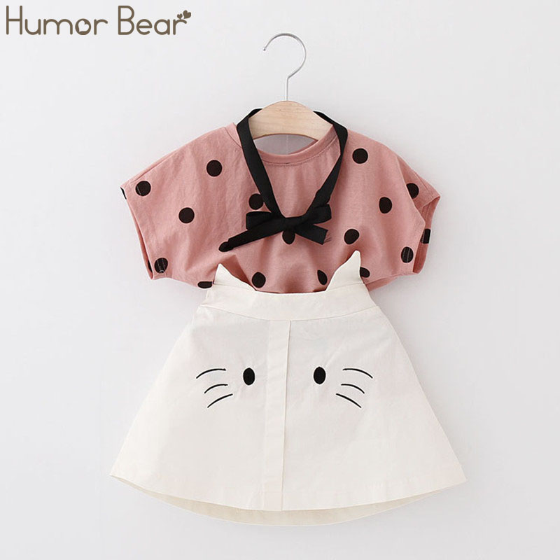 H04e73c5e948747a39ff30fb56bfaa611J - Humor Bear Baby Girl Clothes Hot Summer Children's Girls' Clothing Sets Kids Bay clothes Toddler Chiffon bowknot coat+Pants 1-4Y