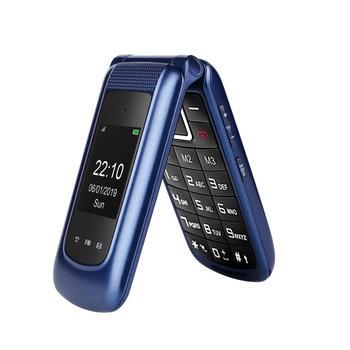 Ushining Uleway 3G Mobile Flip Phone for old senior Dual Screen Dual SIM Unlocked Senior Phones Big Button with SOS  Phone