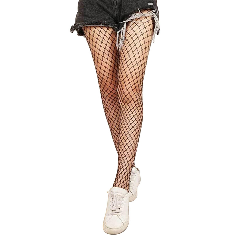 Stockings Female Summer Fishnet Pantyhose Hollow Out Sexy Women Tights Stocking Club Party Hosiery Sexy Mesh Black Calcetines