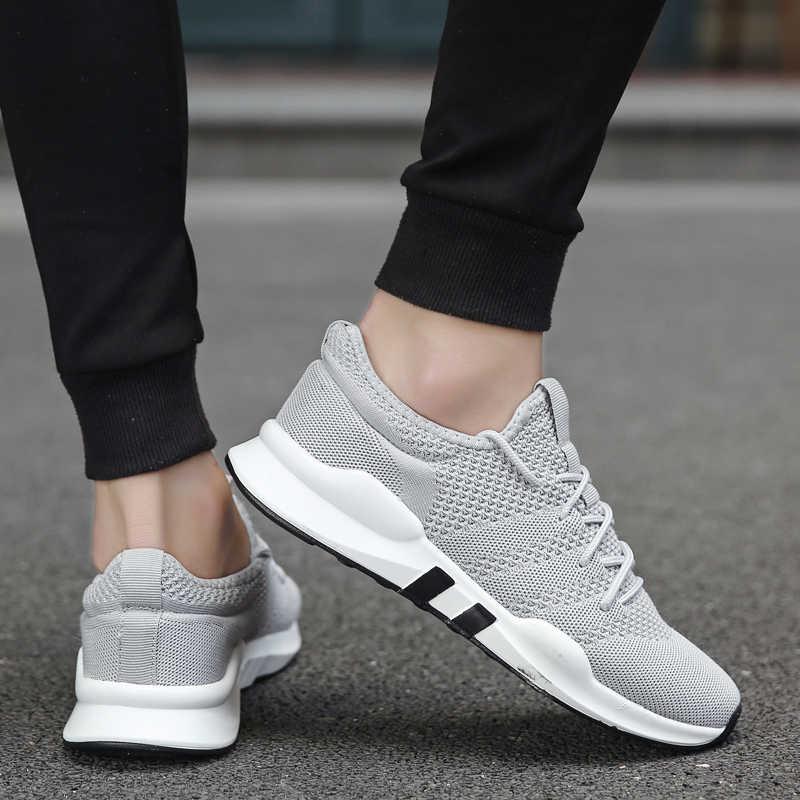 Yeni rahat rahat ayakkabılar ışık büyük boy nefes erkek ayakkabıları 46 koşu ayakkabıları