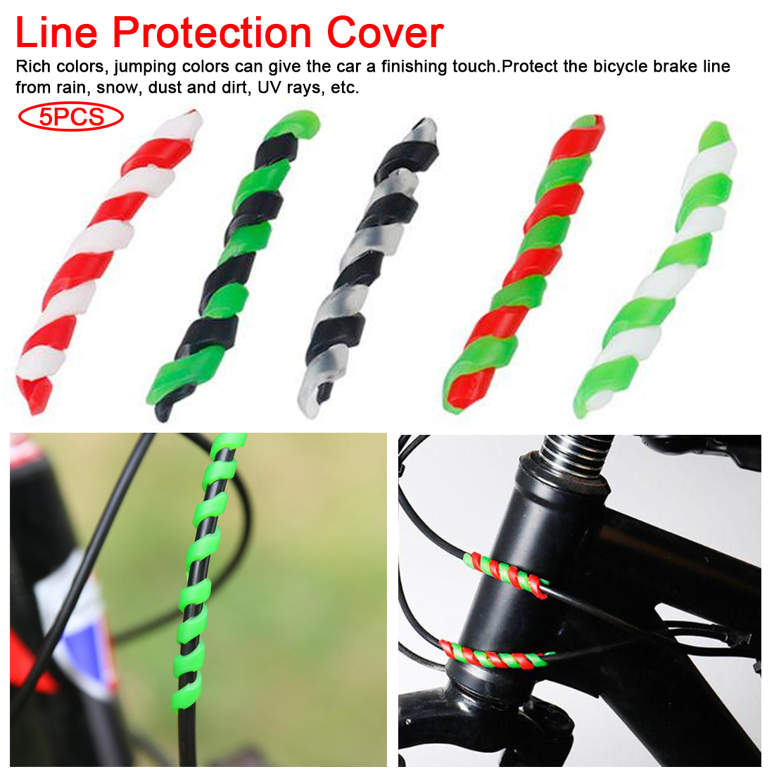 Bicycle AccessoriesSleeve New Bike Cover Protection Guards Brake Line Protector Care Cycling  Rubber Anti-friction Bike Guard