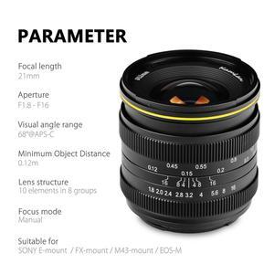Image 2 - Kamlan 21 مللي متر F1.8 المحمولة للماء المرايا كاميرا دليل الإصلاح التركيز رئيس عدسات لكاميرات كانون EOS M لسوني E ل فوجي FX /M4/3
