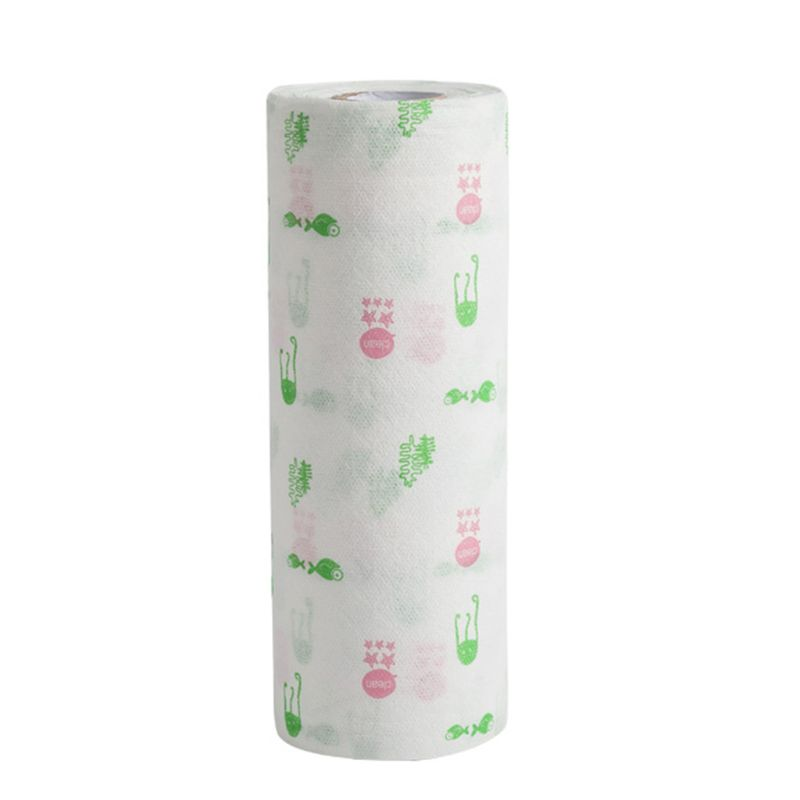 Disposable Dish Cloths Cleaning Towel Kitchen Rag Multi Wood Pulp Toilet Paper T4MB