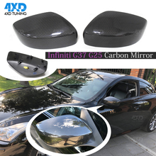 For Infiniti G Series G37 G25 Carbon Fiber Mirror Cover Side View Mirror Caps 2009 2010 2011 2013 2014 Add on Style carbon fiber side wing mirror covers for porsche panamera 970 2010 2014 2015 2016 add on style rear view mirror cover only lhd