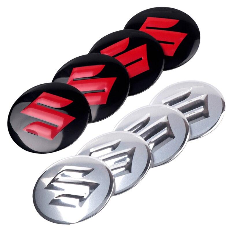 4pcs 56mm Car Wheel Center Hub Caps Cover Rim Sticker Badge For Suzuki Jimny Ignis Alto Samurai Baleno Swift Vitara Decoration