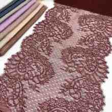 3 m/lote 1.50 m/pc largura 27.50-32.50cm 13 cor cílios laço guarnição folha não-elástico brilho brilho aparar vestuário vestido acessório