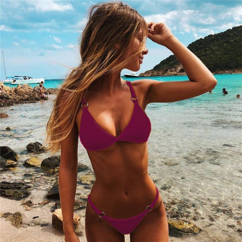 H04e7ff347eee433094b2bb3f6017967dX HolaSukey Sexy Solid Bikini Set Women Brazilian Bikinis Ring Patchwork Swimsuit Bathing Suit Female Summer Swimwear Beachwear