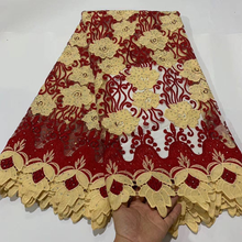 African Cord Lace Fabric High Quality 2020 Guipure Water Soluble Stone Multicolour Nigerian For Wedding