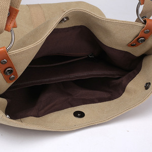 Image 5 - 여성 캔버스 토트 패션 싱글 숄더 가방 어깨 Crossbody 가방 핸드백과 지갑 Ladys 손 가방 여자 2020 새로운