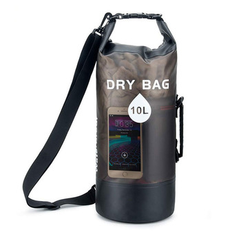 Newest 10L/20L Transparent Swimming Dry Bag Outdoor Travel Waterproof Dry Sack Backpack Men Women Seaside Beach Use Shoulder Bag 9