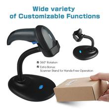 NETUM W6-X Bluetooth CCD Barcode Scanner & NT-1228BC Reader for Mobile Payment Computer Screen Support Mac IOS, Android