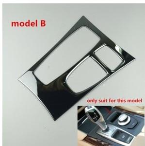 Image 3 - คอนโซลกลางสีดำเกียร์SHIFT PANELตกแต่งฝาครอบTrimสำหรับBMW X5 E70 X6 E71 2008 2014 LHDสแตนเลสรถเหล็กจัดแต่งทรงผม