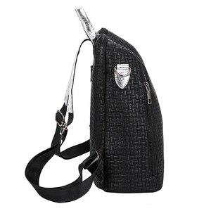 Image 3 - Multifunction Women Backpacks Shoulder Bags Fashion Summer Backpack Leather Women Backpacks Light Lady Large Capacity School Bag