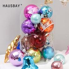 Christmas Decoration Balls 60-70Pcs/Set Random Pendant Bell Star Drawing Tree Hanging Ornaments Home decor D079