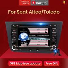 Автомагнитола Junsun 2 din, 7 дюймов, DVD-радио, мультимедийный плеер для Seat Altea 2004-2015 Toledo 2004-2009, GPS-навигация, автомобильное аудио