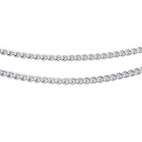 Steampunk 4mm acier inoxydable gourmette cubaine chaîne collier 20 pouces pour hommes/femmes --- argent