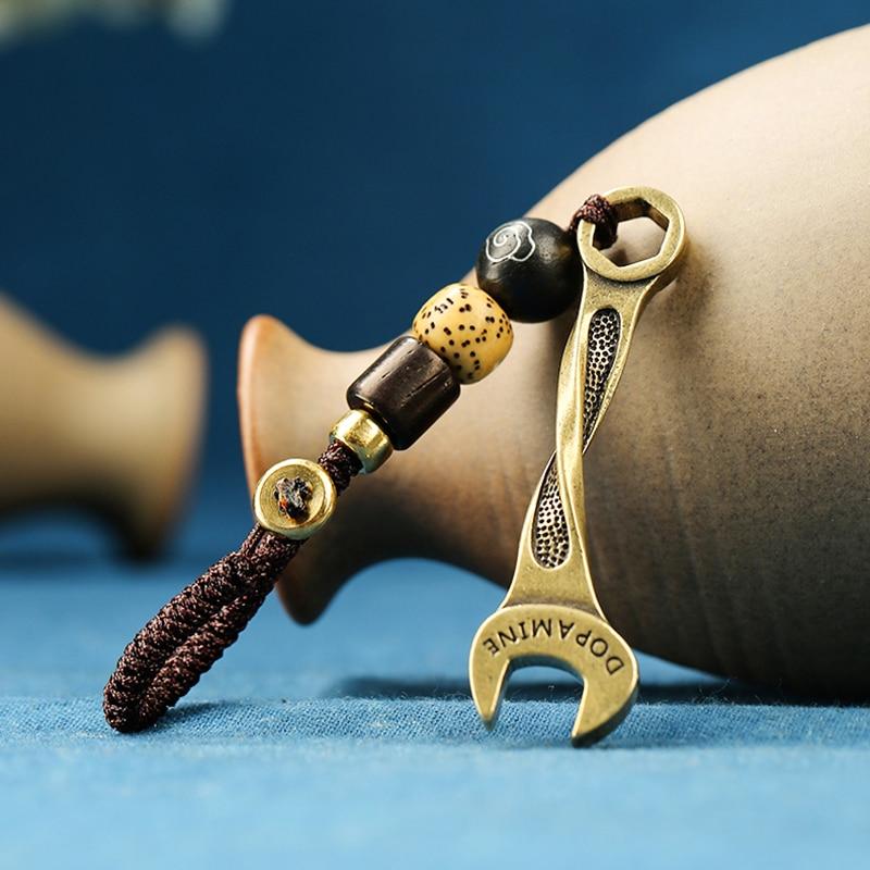 brass wrench rope key pendants (7)